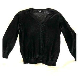 Theory 3/4 sleeve black cardigan